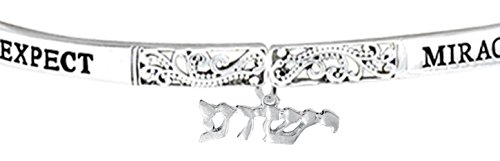 YESHUA, (Jesus In Hebrew) NAMED BY AN ANGEL OF GOD. Expect Miracles, The Original Hypoallergenic, Safe-Nickel, Lead, Cadmium Free, Adjustable Stretch Bracelet (Meaning Of The Name Karen In Hebrew)