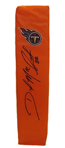 Tennessee Titans Dexter McCluster Autographed Hand Signed Full Size Logo Football Touchdown End Zone Pylon with Proof Photo of Signing and COA- Ole Miss- University of Mississippi Rebels