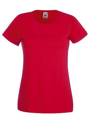 Damen Lady-Fit T-Shirt verschiedene Farben und Größen - Shirtarena Bündel M,Rot