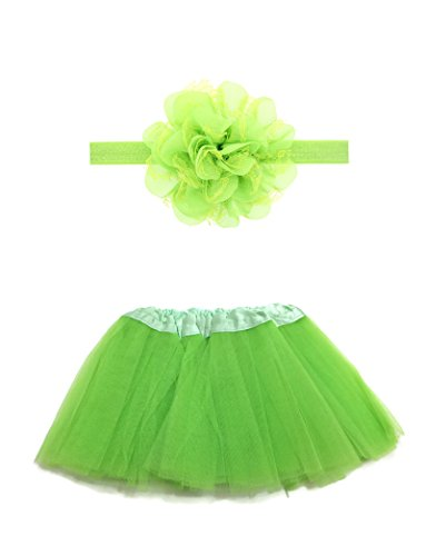 Toddler Costumes Ireland - Rush Dance Boutique Costume Princess Ballerina Tutu & Top & Headband Gift Set (Infant (0-2 Years), Lime)