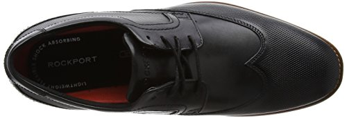 Rockport Style Purpose Perf Wingtip, Scarpe Stringate Uomo Nero (Black)