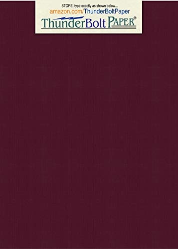100 Dark Burgundy Linen 80# Cover Paper Sheets - 4.5 X 6.5 Inches Photo Insert Invitation Card Size - 80 lb/Pound Card Weight - Fine Linen Textured Finish - Deep Dye Quality Cardstock ()