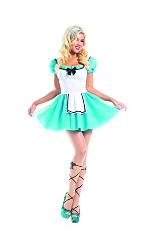 Xl Miss Alice Costumes (Adult Women's 2 Piece Alice in Wonderland Halloween Party Costume)