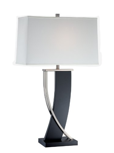 - Lite Source LS-21788 Table Lamp with Off White Fabric Shades, 18