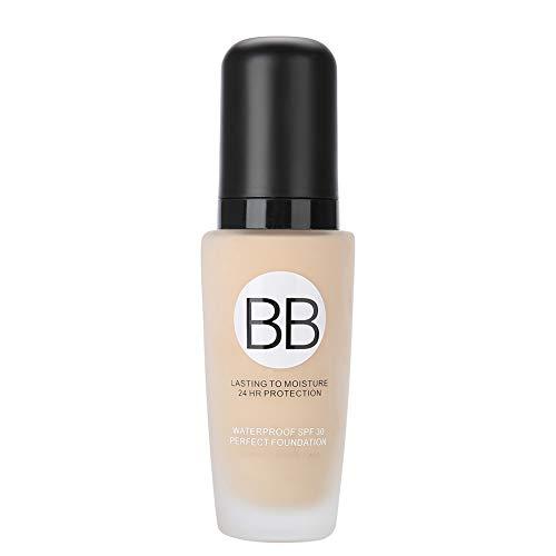 30ml Primer Base Foundation, langlebiges flüssiges Gesichts-Make-up mit voller Deckkraft BB Cream Moist Smooth Pores Cover Primer(01#)