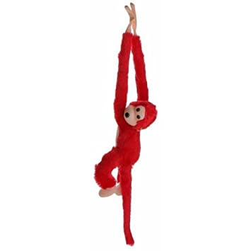 Agnolia Soft Toy Hanging Monkey Red Color - 21 cm