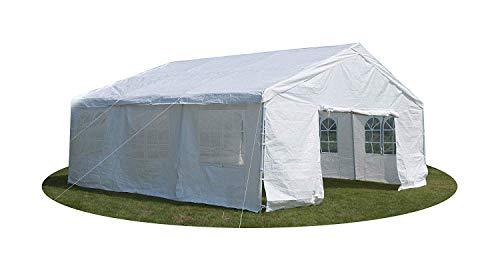Feelway 20x20 Heavy Duty Party Tent Carport Wedding Canopy Steel W/Sidewalls White