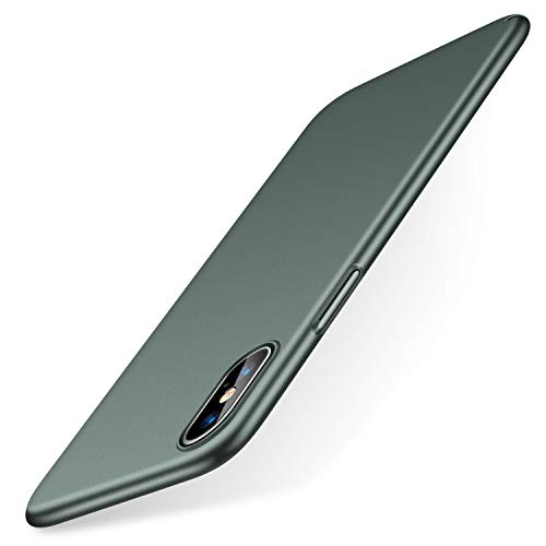 TORRAS Slim Fit iPhone Xs Case/iPhone X Case, Hard Plastic PC Super Thin Mobile Phone Cover Case with Matte Finish Coating Grip Compatible with iPhone X/iPhone Xs 5.8 inch, Midnight Green ...