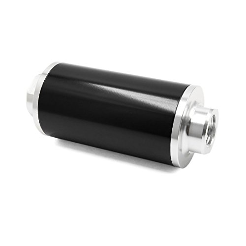 Sourcingmap Universal Car Black Engine Petrol Diesel Gas Inline Fuel Filters AN6 AN8 AN10: