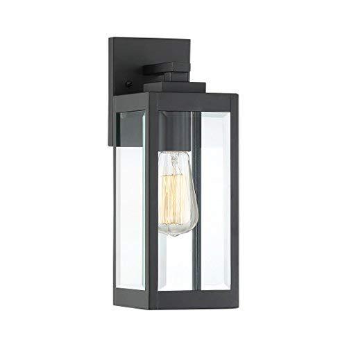 Quoizel WVR8405EK Westover Modern Industrial Outdoor Wall Sconce Lighting, 1-Light, 100 Watt, Earth Black (14