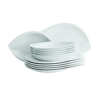 Image of Dinner Plates Domestic Professiona 12 -Piece Dinner Set Leaf includes 6-Soup Plates/ Dinner Plates