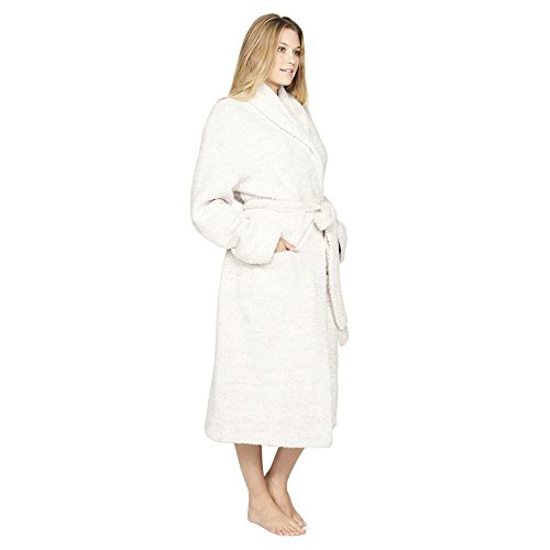 Barefoot Dreams Cozychic Adult Robe, White (Size 3)