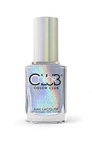Color Club Halographic Hues Nail Polish, Multicolored, Harp On It, 0.5 Ounce]()