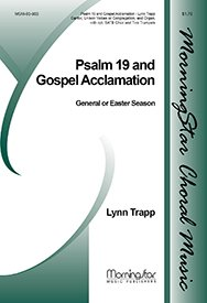 Psalm 19 / Gospel Acclamation(Choral Score) - Organ, opt. Two Trumpets - Choral Sheet Music ()