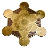Metatron's Cube 18K Gold Plated 4' Healing Grid