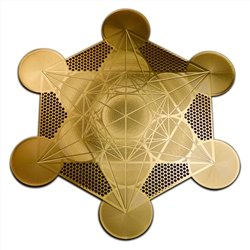 Metatron's Cube 18K Gold Plated 4' Healing Grid