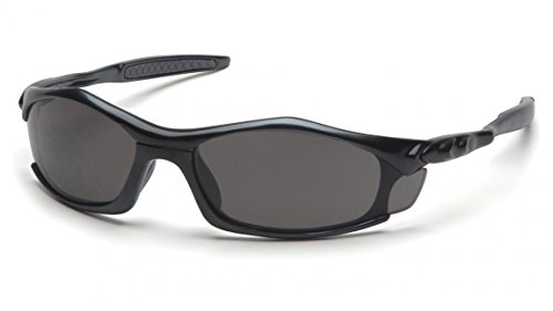 (12 Pair) Pyramex Solara Glasses Black Frame/Gray Lens ()