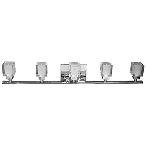 Dainolite 83895W-PC 5-Light Vanity with Frosted Cube Shade Polished Chrome /RM#G4H4E54 E4R46T32561565