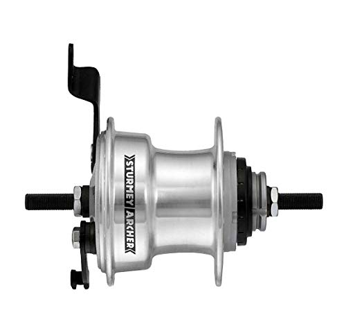 Sturmey Archer RX-RD3 3-sp hub with 70mm Drum Brake, 36h Silver ()