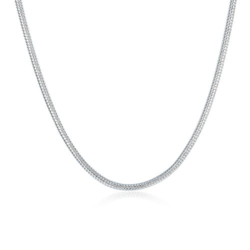 2mm 18 Inch Necklace (TTVOVO 925 Sterling Silver Italian 2MM Snake Chain Crafted Necklace Thin Lightweight Strong - Lobster Claw Clasp 18