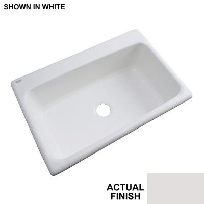Thermocast Manhattan 33 In. x 22 In. Cast Acrylic Undermount Single Bowl Kitchen Sink, Almond - Manhattan Undermount Acrylic