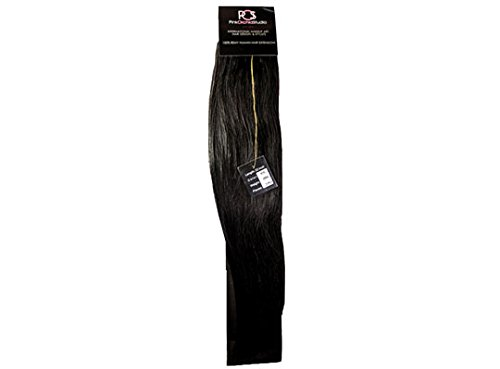 Pink Orchid Studio Human Hair Extensions #1B Black-Brown 22