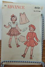 Skating Skirt Patterns (Advance Pattern #4421 For 18