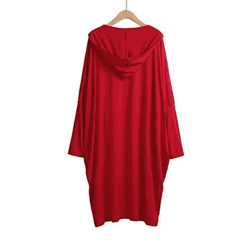 Spbamboo Womens Cardigan Oversize Long Jacket Open Front Bat Sleeve Coat Outwear by Spbamboo (Image #2)