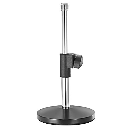Neewer Desktop 5.5-8.7 inches/14-22 centimeters Adjustable Microphone Stand with 3/8-inch 5/8-inch Threaded Screw Adapter for Studio Home Broadcasting and Sound Recording (Silver)