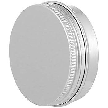 PandaHall 1 oz latas de Aluminio latas contenedores de Almacenamiento de tarros Redondos Tapa de Tornillo latas de Metal latas de Viaje recipientes cosm/¨/¦ticos rellenables,Paquete de 30 Plata
