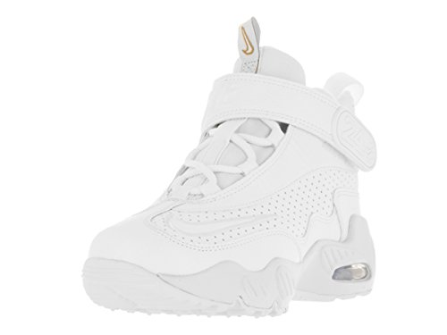 Nike Kids Air Griffey Max 1 (PS) White/White Blue Glow Mtlc Gld Training Shoe 3 Kids US