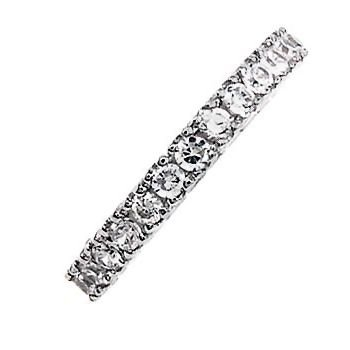 Illianna: 0.96ct Russian Ice on Fire CZ Eternity Anniversary Band Ring 925 Silver, 3117B sz 4.0