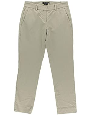Theory Womens Izelle C Mid-Rise Solid Ankle Pants