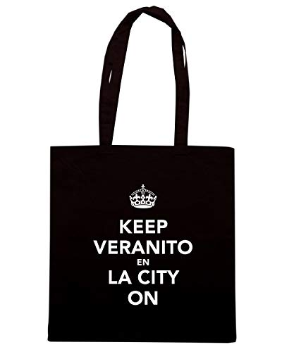 LA Borsa VERANITO ON TKC0131 EN Shopper KEEP CALM CITY AND KEEP Nera wwpcqAzS