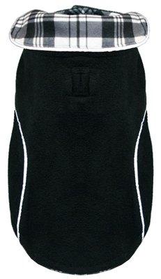 Hip Doggie HD-5PFWBK-XL Reversible Polar Fleece Wrap Coat, Size XL