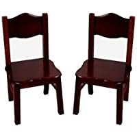 Guidecraft Classic Espresso - Dark Cherry Extra Chairs Kids Furniture - Set of 2