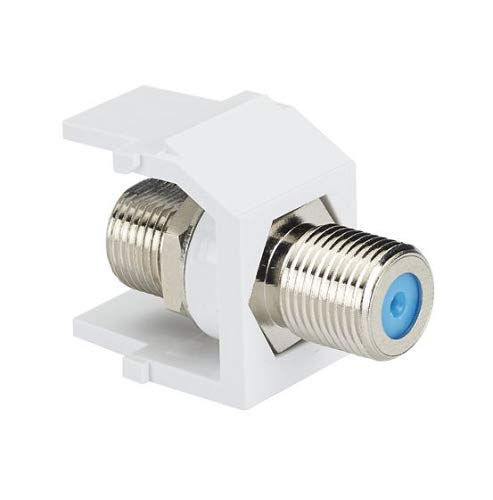 Panduit NKFWH 1-Port Coupler Module with F-Coaxial Connector, ()