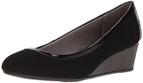 LifeStride Women's Lady Wedge Pump - Black - 7.5 C/D US