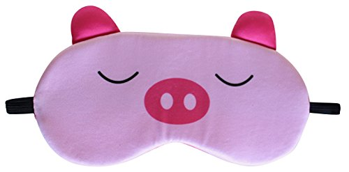 Nido Nest Sleep Eye Mask - Best for Long Flights, Road Trips & Gifts For Kids - Sleeping Mask for Bedtime, Naps, Travel - Toddler, Preschool, Kindergarten, Elementary Children - (Kids Travel Pillow Pig)