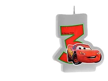 ALMACENESADAN 33533, Vela cumpleaños Disney Cars nunemo 3 ...