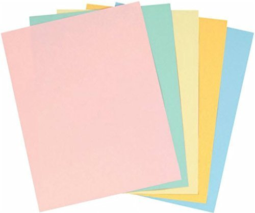 (Staples Pastels Colored Copy Paper, Assorted, 8.5 x 11 inch Letter Size, 20lb Density, 30% Recycled, Acid-Free, Pink Green Gold Blue Canary Yellow, 400 Total Sheets (679481))
