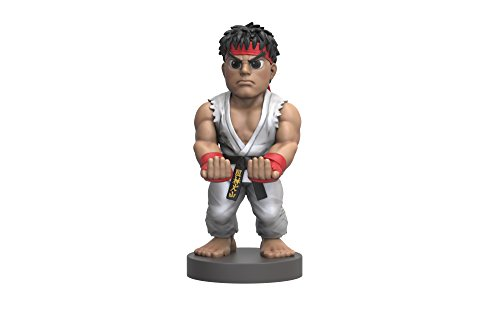 Collectible Street Fighter V Cable Guy Device Holder – works with PlayStation and Xbox controllers and all Smartphones –  Ryu – Not Machine Specific