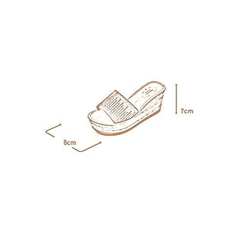 5 Jincosua Sandalias Tamaño Verano Con Nuevas Imitación 2 Diamantes Fondo Slope uk6 cn40 Gruesas color Femenina De Cool Diseño Zapatillas Ropa Eu39 With Slippers p4qBFSp