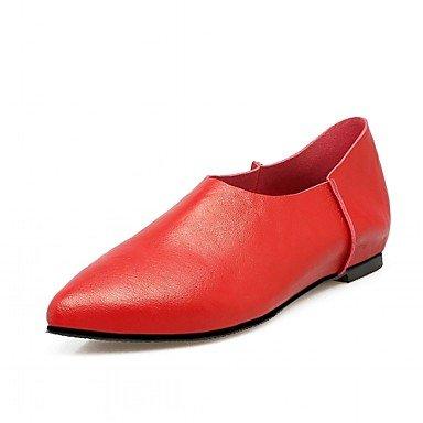Cómodo y elegante soporte de zapatos de las mujeres pisos primavera verano otoño invierno comodidad novedad pu piel sintética boda oficina y carrera partido y vestido de noche stiletto talón otros rojo
