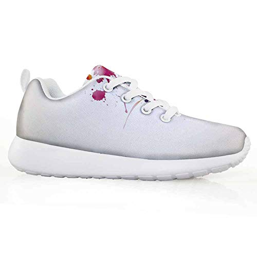 Price comparison product image Abstract Children Running Shoes Watercolor Portrait of a Woman with Artsy Floral Hairstyle Paint Splatter