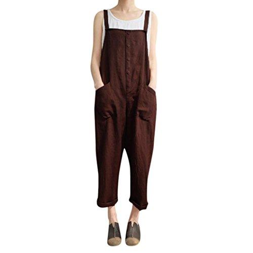 uits,Hemlock Teen Long Harem Trousers Rompers Pants Workers Jumpers Playsuit (S, Coffee) ()