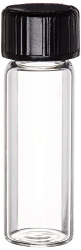- Kimble 60910L-1 Borosilicate Glass Clear Screw Thread Sample Vial with Rubber Lined Closure, 1 Drams Capacity (Case of 576)