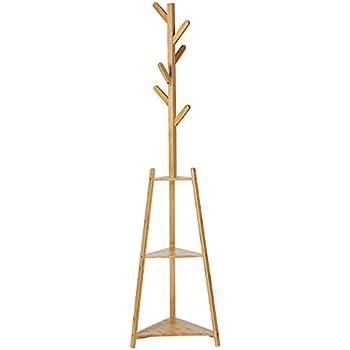 Amazon.com: Jeeke - Perchero de bambú para la ropa sucia, 8 ...