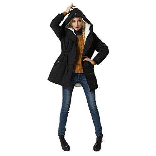 Coton Vestes Plus Manteaux Laine Agneau Noir Épaissir À Femmes Végétalien Oksakady Des Casual L'hiver Parka Capuche S6ggf