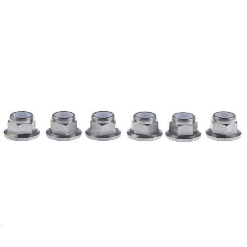 (Wanyifa Titanium M10 Pitch 1.25mm Sprocket Flange Lock Nut pack of 6)